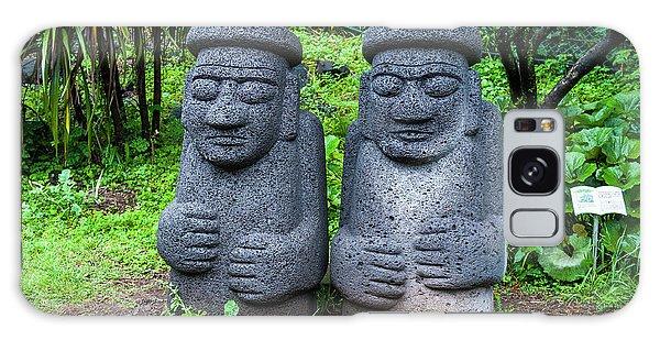 Basalt Galaxy Case - Basalt Statues In Seogwipo, Unesco by Michael Runkel