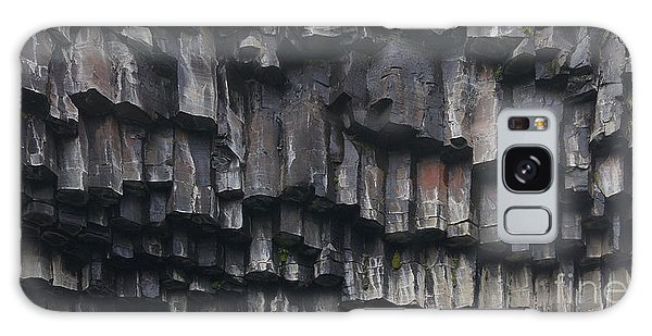 basaltic columns of Svartifoss Iceland Galaxy Case by Rudi Prott