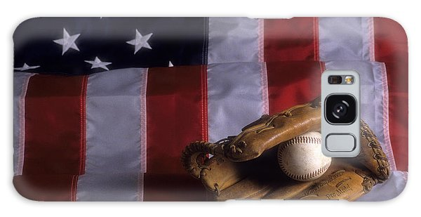 Baseball And American Flag Galaxy Case