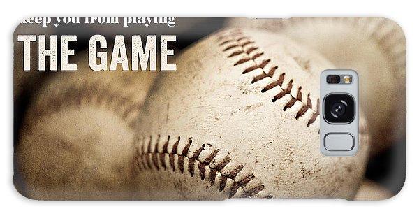 Baseball Art Featuring Babe Ruth Quotation Galaxy Case