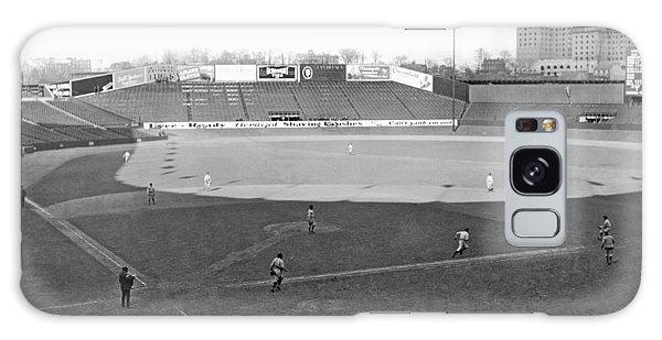 Baseball At Yankee Stadium Galaxy Case