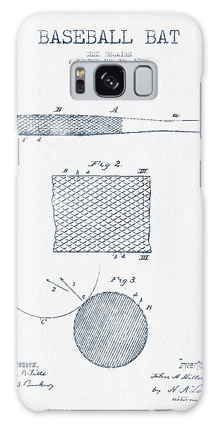Baseball Bat Patent Drawing From 1904 - Blue Ink Galaxy S8 Case