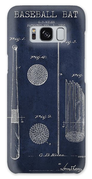 Baseball Bats Galaxy S8 Case - Baseball Bat Patent Drawing From 1921 by Aged Pixel
