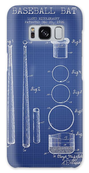 Baseball Bats Galaxy S8 Case - Baseball Bat Patent From 1926 - Blueprint by Aged Pixel