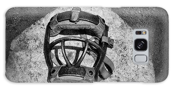Baseball Galaxy Case - Baseball Catchers Mask Vintage In Black And White by Paul Ward