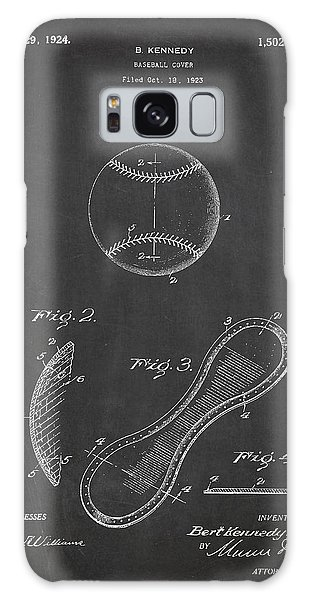 Baseball Bats Galaxy S8 Case - Baseball Cover Patent Drawing From 1923 by Aged Pixel