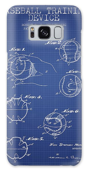 Baseball Bats Galaxy S8 Case - Baseball Cover Patent From 1963- Blueprint by Aged Pixel