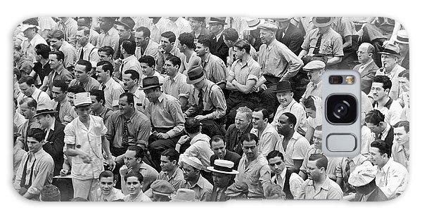 Yankee Stadium Galaxy S8 Case - Baseball Fans In The Bleachers At Yankee Stadium. by Underwood Archives