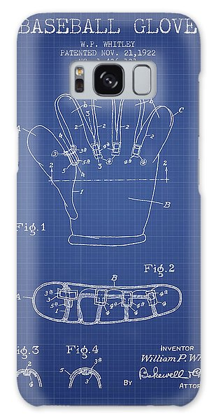 Baseball Bats Galaxy S8 Case - Baseball Glove Patent From 1922 - Blueprint by Aged Pixel