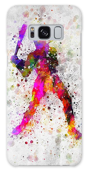 Baseball Players Galaxy S8 Case - Baseball Player - Holding Baseball Bat by Aged Pixel