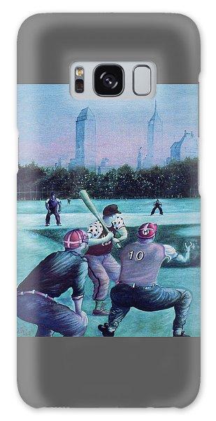 New York Central Park Baseball - Watercolor Art Galaxy Case
