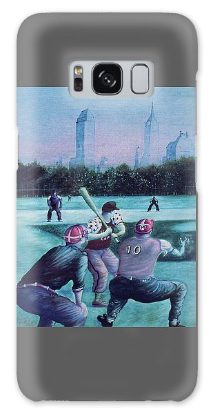 New York Central Park Baseball - Watercolor Art Galaxy Case