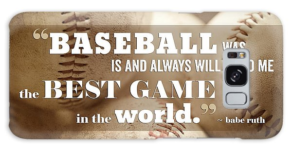 Baseball Galaxy Case - Baseball Print With Babe Ruth Quotation by Lisa Russo