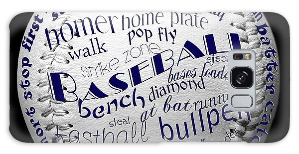 Baseball Terms Typography 2 Galaxy Case