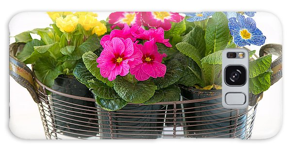 Basket Of Primroses Galaxy Case