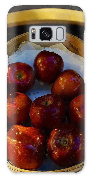 Basket Of Red Apples Galaxy Case