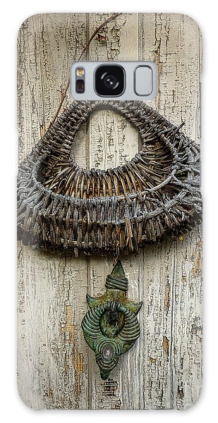 Basket On Weathered Door Galaxy Case
