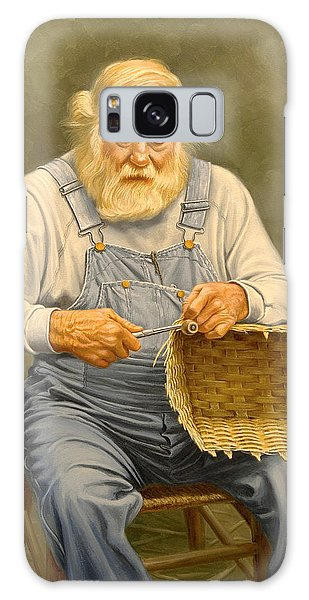 Basket Galaxy Case - Basketmaker  In Oil by Paul Krapf