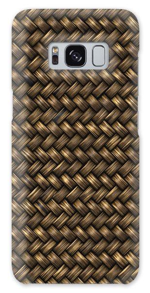 Basketweave Pattern Galaxy Case