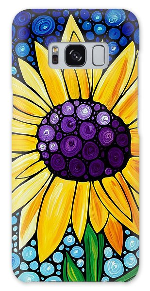 Sunflower Galaxy S8 Case - Basking In The Glory by Sharon Cummings
