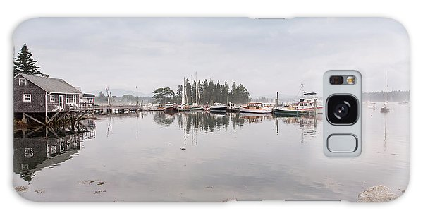 Bass Harbor In The Morning Fog Galaxy Case