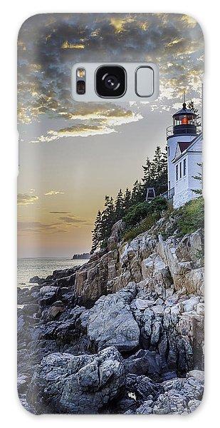 Bass Harbor Light House Galaxy Case
