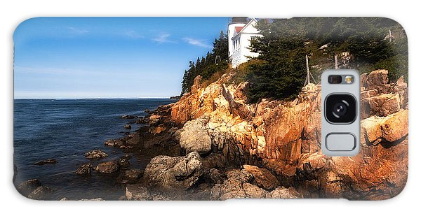 Bass Harbor Lighthouse Galaxy Case by Deborah Scannell