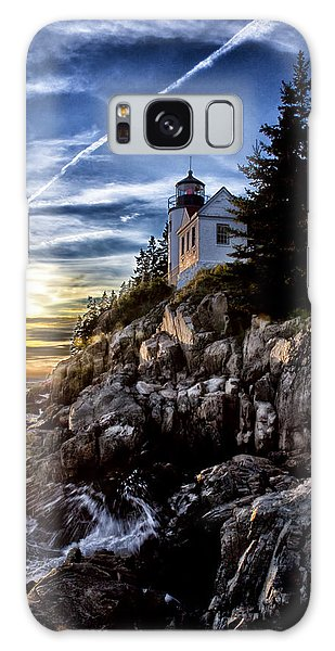 Bass Harbor Lighthouse Galaxy Case by Elizabeth Eldridge