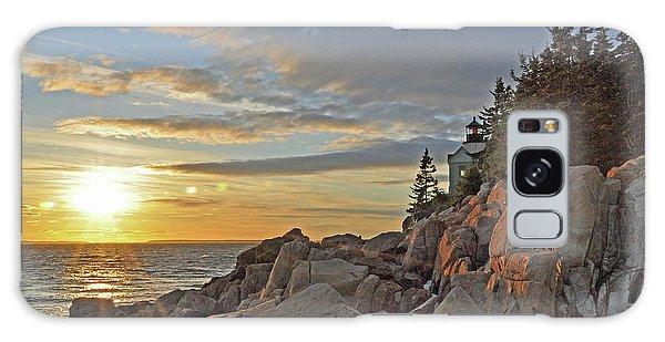 Bass Harbor Lighthouse Sunset Landscape Galaxy Case by Glenn Gordon