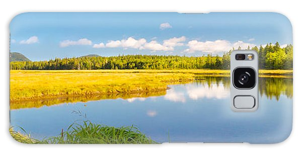 Bass Harbor Marsh Panorama Acadia National Park Photograph Galaxy Case by Keith Webber Jr
