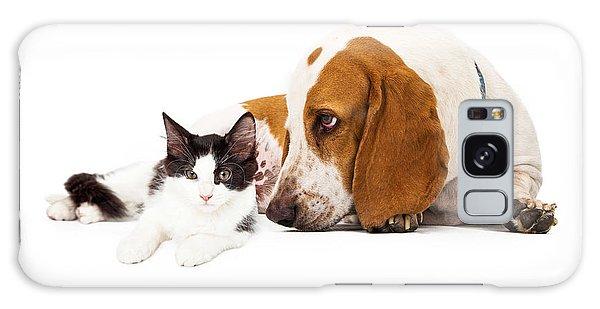 Basset Hound Dog And Kitten Galaxy Case