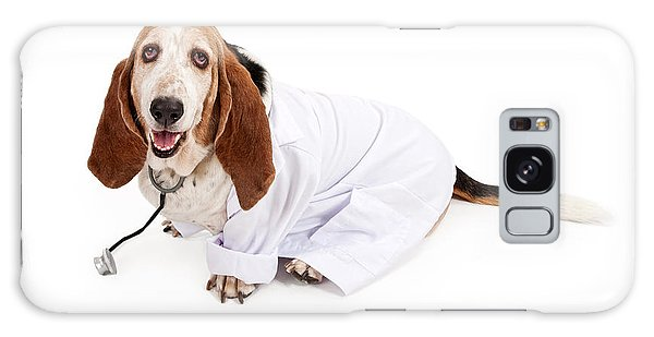 Basset Hound Dressed As A Veterinarian Galaxy Case