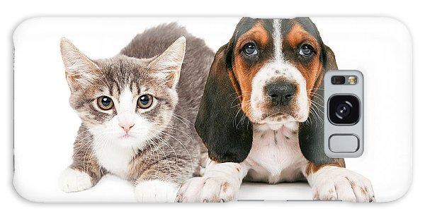 Basset Hound Puppy And Kitten Galaxy Case