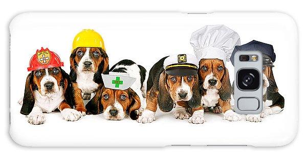 Bassets In Work Hats  Galaxy Case