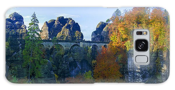 Bastei Bridge In The Elbe Sandstone Mountains Galaxy Case