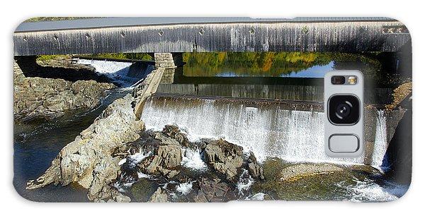 Bath Haverhill Covered Bridge In Autumn Galaxy Case