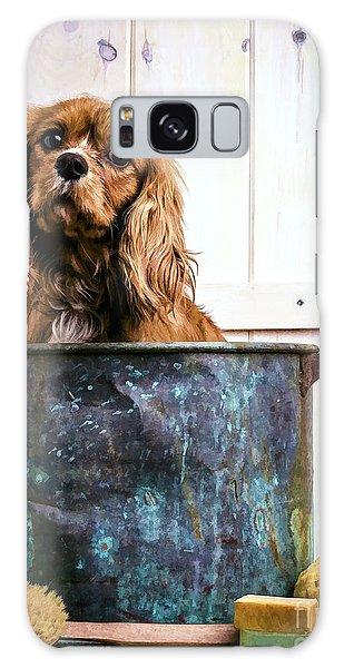 Bath Galaxy Case - Bath Time - King Charles Spaniel by Edward Fielding