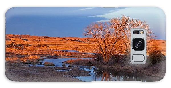 Nebraska Galaxy Case - Bathed In Sunset Light The Calamus by Chuck Haney