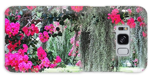 Baton Rouge Louisiana Crepe Myrtle And Moss At Capitol Park Galaxy Case
