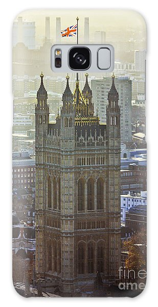 Battersea Power Station And Victoria Tower London Galaxy Case
