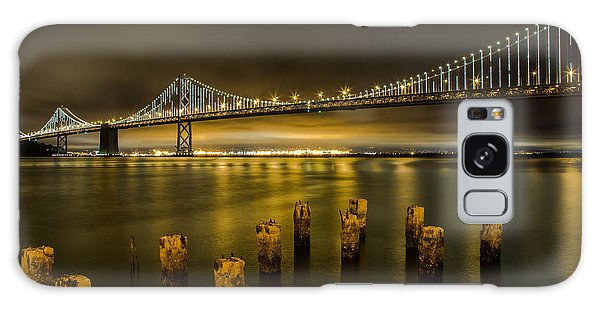 Bay Bridge And Clouds At Night Galaxy Case
