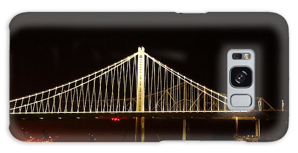 Bay Bridge At Night Galaxy Case