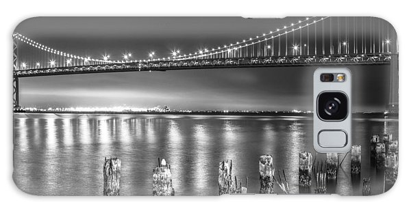 Bay Bridge Black And White Galaxy Case