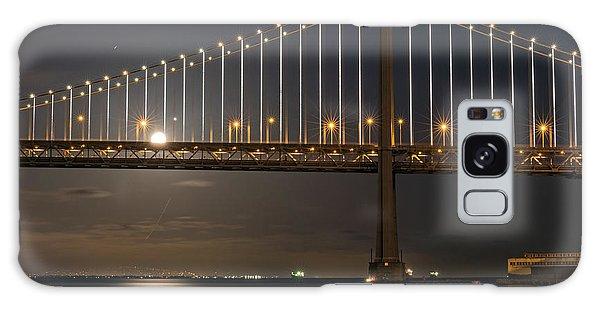 Bay Bridge Moon Rising Galaxy Case
