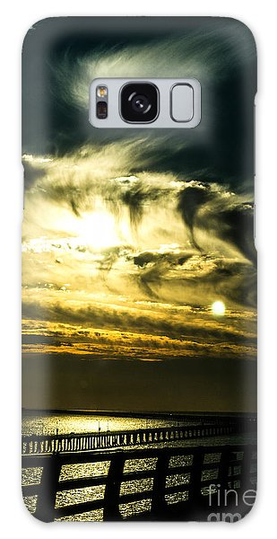 Bay Bridge Sunset Galaxy Case by Angela DeFrias