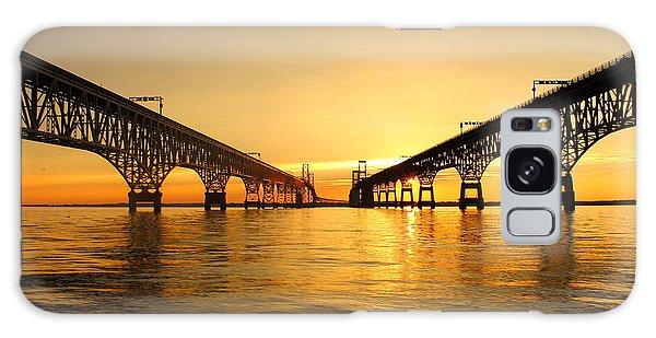 Bay Bridge Sunset Galaxy Case