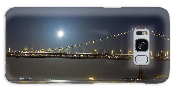 Bay Bridge Supermoon Galaxy Case