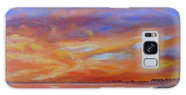 Bay Of Hythe On Fire Galaxy Case