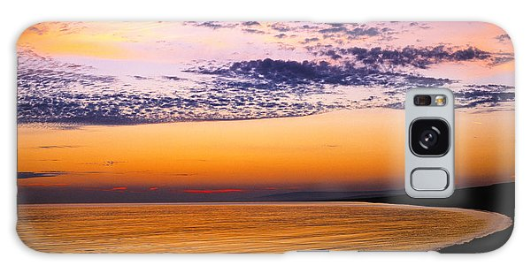 Bay Sunset Galaxy Case by Lana Enderle