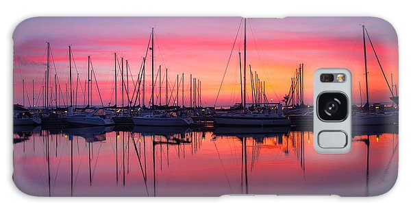 Bayfield Wisconsin Magical Morning Sunrise Galaxy Case